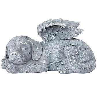 Pet Souvenirs, Resin Cartoon Angel Dog And Cat Wings Ornaments, Tombstone Monument, Garden Home