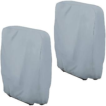 Folding Chairs Cover, Garden Chairs Protective Cover, Windproof Anti-uv Grey