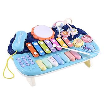 Baby Musical Toys Multifunction Toys Kids Drum Set With Phone Bead Maze Gear Xylophone Piano
