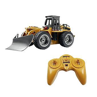1:16 8ch Rc Bulldozer máquina de vehículos de control remoto en el control RC juguetes de coche para | Camiones RC(Amarillo)