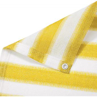 Sunshade Net With White And Yellow Stripes, Suitable For Balcony Garden Terrace