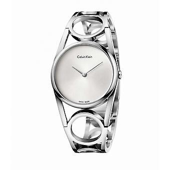 Montre femme Calvin Klein Montres ROUND PO S SST PO/BR B-LET SIL DIAL - K5U2S146 Bracelet Acier