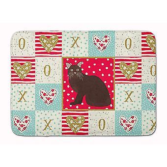 Bath mats rugs burmese #2 cat love machine washable memory foam mat