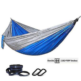 Hammocks oversized 118in*79in camping hammock for outdoors travel backpacking double hammock with tree