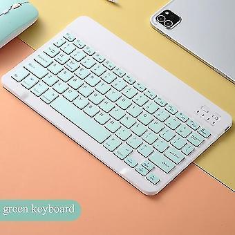 Wiederaufladbare universelle 10 Zoll drahtlose Bluetooth-Tastatur Maus Set für iPad iPhone Mac Android