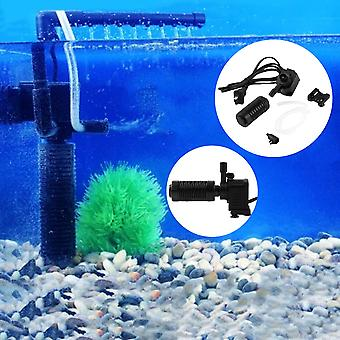 Black 200l/h 2w Aquarium Pond Internal Filter For Fish Tank Submersible