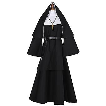 Halloween skummel nonne kostyme prest cosplay kostyme