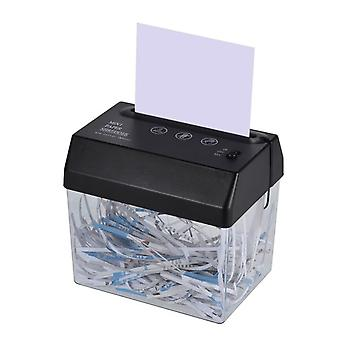 Mini Portable Usb Paper Shredder For Cutting Tape Cutting A6 Folding A4 Cutting Machine With Letter Paper Trash Can For Office