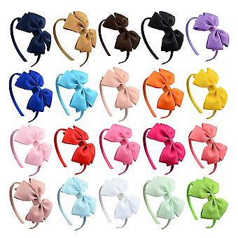 Hot Fashion Multicolorhigh Kwaliteit Solide Haarbanden Princess Hair Accessoires Lady Bowknot Lint Haarbanden Hair Decor