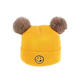 Szuper aranyos hímzés Smiley Gyermek kötött kalap