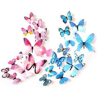 Butterfly Wall Sticker 24 Pcs