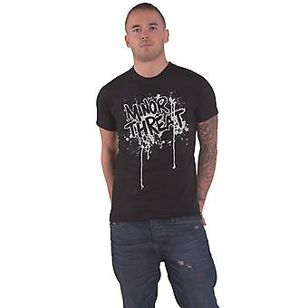 Minor Threat T Shirt Drips Band Logo out of Step new Official Mens Black