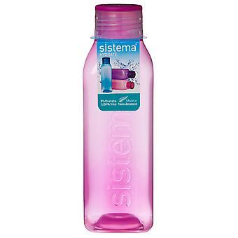 Sistema hydrat 725ml kvadrat drikke flaske, rosa