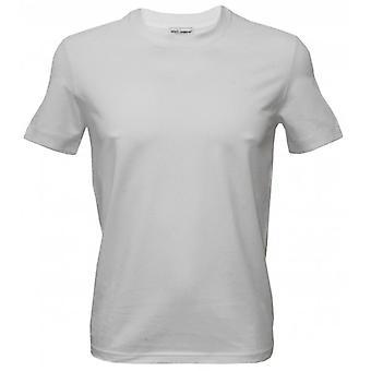 ドルチェ ・ ガッバーナ ラウンド ネック Girocollo t シャツ、純粋なコットン ホワイト