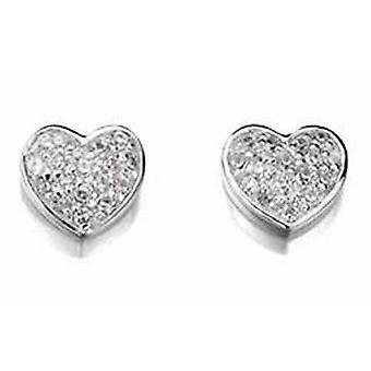 925 Silver Heart Earring