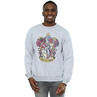 Harry Potter Men's Gryffindor Distressed Crest Sweatshirt