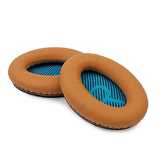 REYTID Replacement Brown Ear Pad Cushion Kit Compatible with Bose QuietComfort 2 / QC15 / QC25 Headphones Cushions