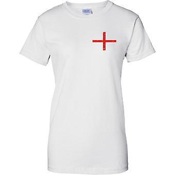 St Georges Englanti lippu ahdistuneita Design - hyvät rinnassa Design t-paita