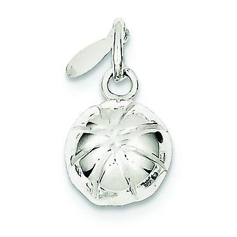 925 Sterling Silver Hollow Polished Basketball Charm Pendant Necklace Jewelry Gifts for Women