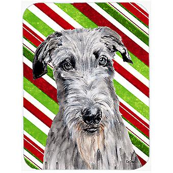 Scottish Deerhound Zuckerstange Weihnachten Glas Cutting Board Größe