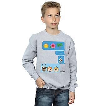 Disney Boys Frozen I Love Heat Emoji Sweatshirt