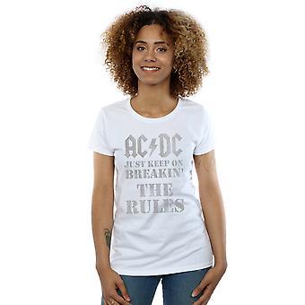 AC/DC feminino só por continue quebrando as regras t-shirt