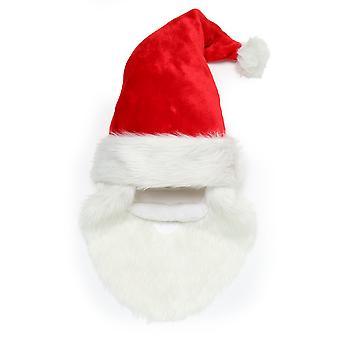 Колпак Санта-Клауса рождественские магазин с бородой и усами