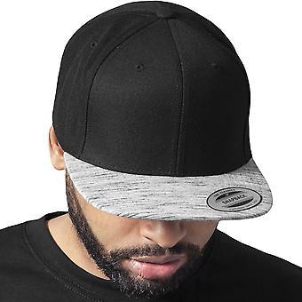Flexfit MELANGE VISOR Snapback Cap - black / grey