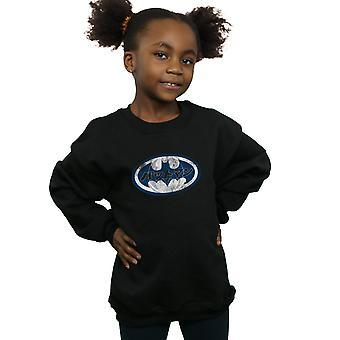 البنات باتمان شعار اليابانية كاريكاتير العاصمة الأبيض البلوز