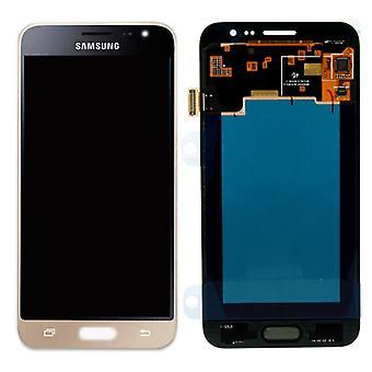 Дисплей LCD полный набор GH97-18414 B золото для Samsung Галактика J3 J320F 2016