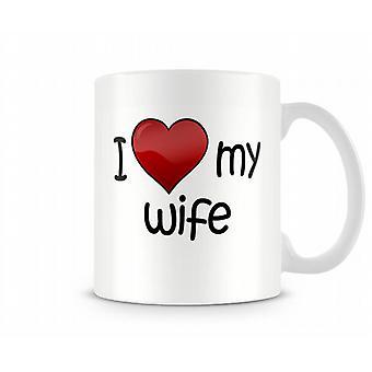 Ik hou van mijn vrouw afgedrukte mok