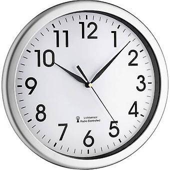 TFA Dostmann 60.3519.02 Radio seinä kello 30,8 cm x 4,3 cm hopea