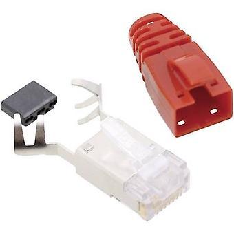 BEL Stewart Konektörler SS39RTE SS39RTE RJ45 Konnektör CAT 6 8P8C RJ45 Fiş, düz Kırmızı