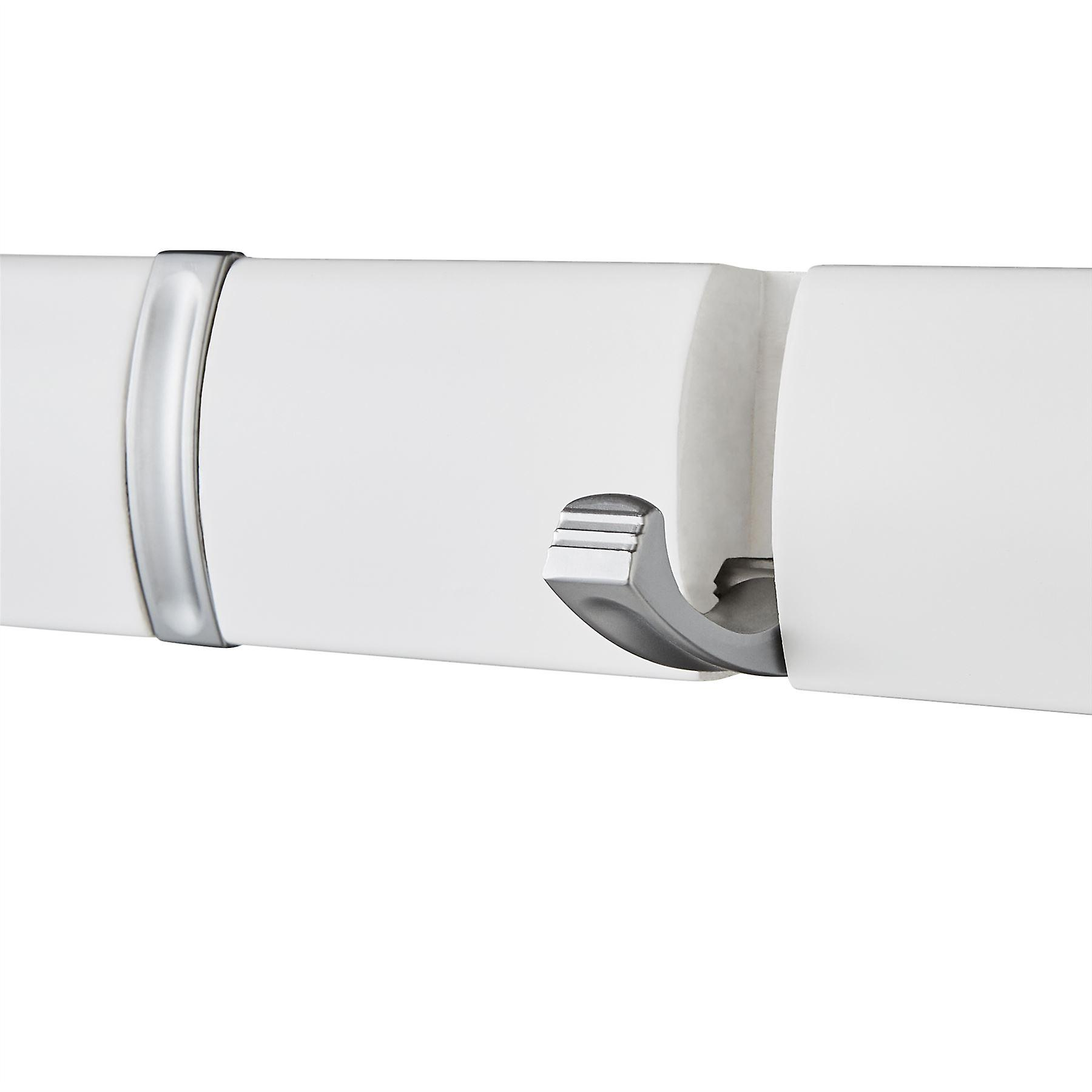 5 Door Hooks In Satin Chrome On Natural White Mountable Board