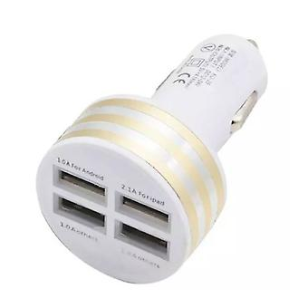 Stuff Certified® High Speed ??Quad Port 4x USB Charger / Carcharger 5V - 4.1A Gold