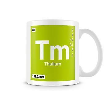Wissenschaftliche bedruckte Becher mit Element Symbol 069 Tm - Thulium
