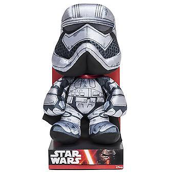 Star Wars pehmo luku kapteeni Phasma, episode 7 hopea musta, 100 % polyesteria, Velboa velvet pehmo näyttöruudussa.