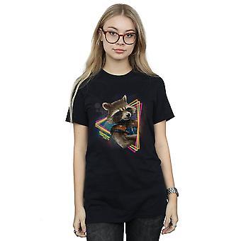 Guardiani di meraviglia femminile del Galaxy Neon Rocket fidanzato Fit t-shirt