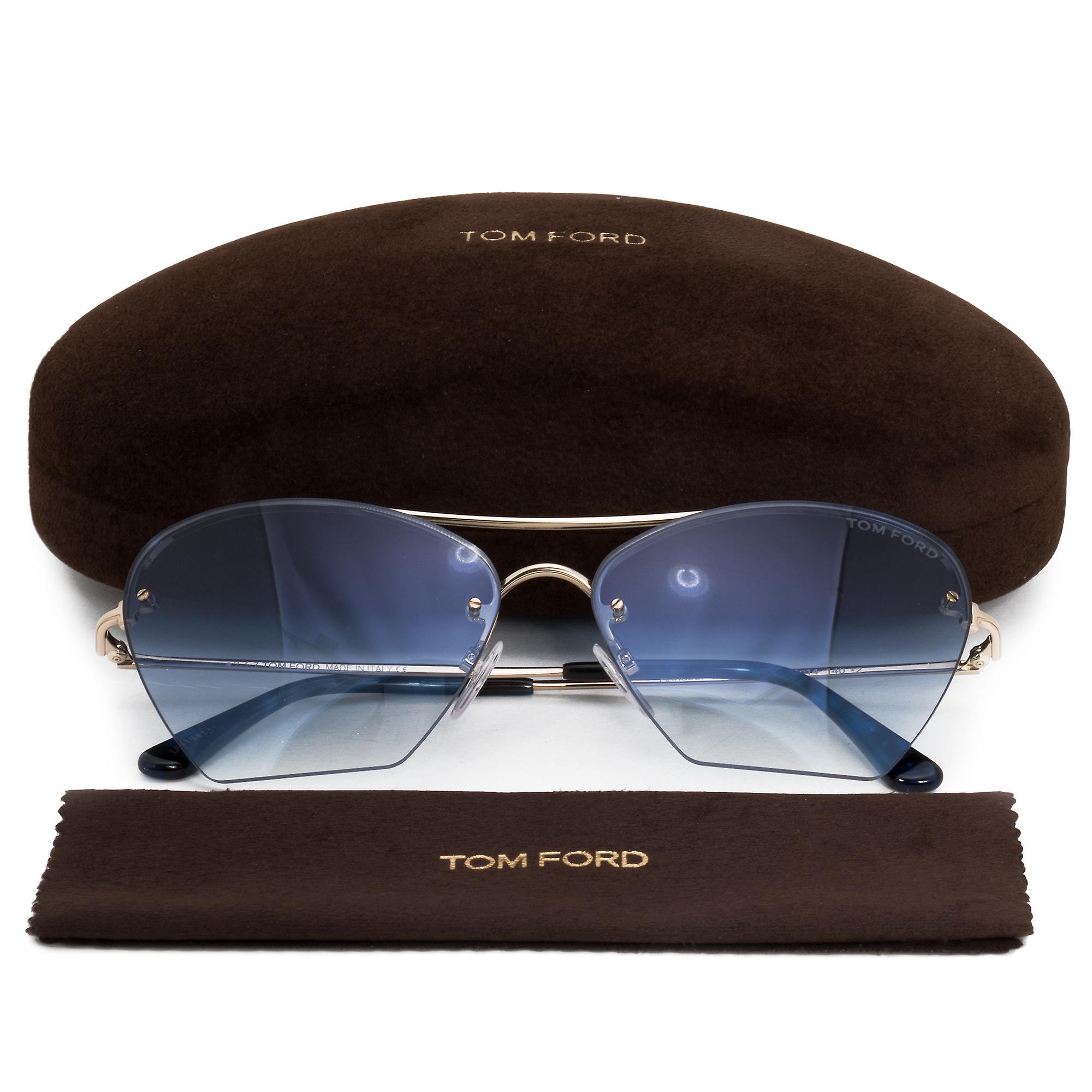 Tom Ford Annabel Aviator Sunglasses FT0507 28W 58 | Rose Gold Frames | Blue Gradient Lenses