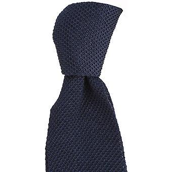 Knightsbridge Krawatten Plain Seide gestrickt Tie - Navy