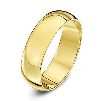 Star Wedding Rings 18ct Yellow Gold Extra Heavy D 6mm Wedding Ring