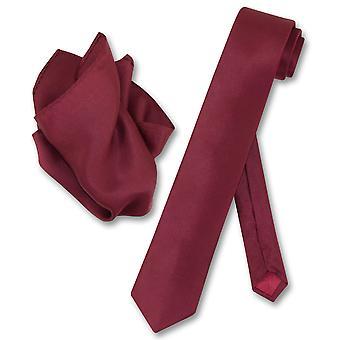 Biagio 100 % Seide dünne Krawatte Solid Herren Krawatte & Taschentuch