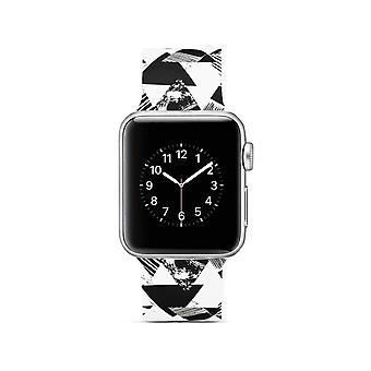 Cinturino per orologio in silicone per Apple Watch 4 40mm, 3/2/1 modello a triangolo 38mm