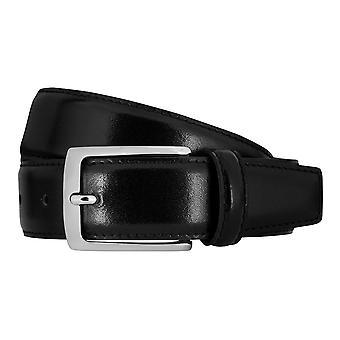 MIGUEL BELLIDO clasico belts men's belts leather belt black 7717