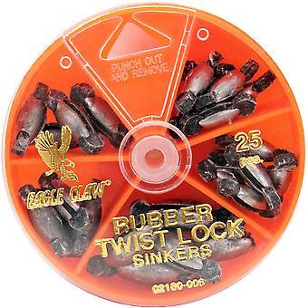 Eagle Claw gumy Core Twist-Lock obciążnikami Dial Pack