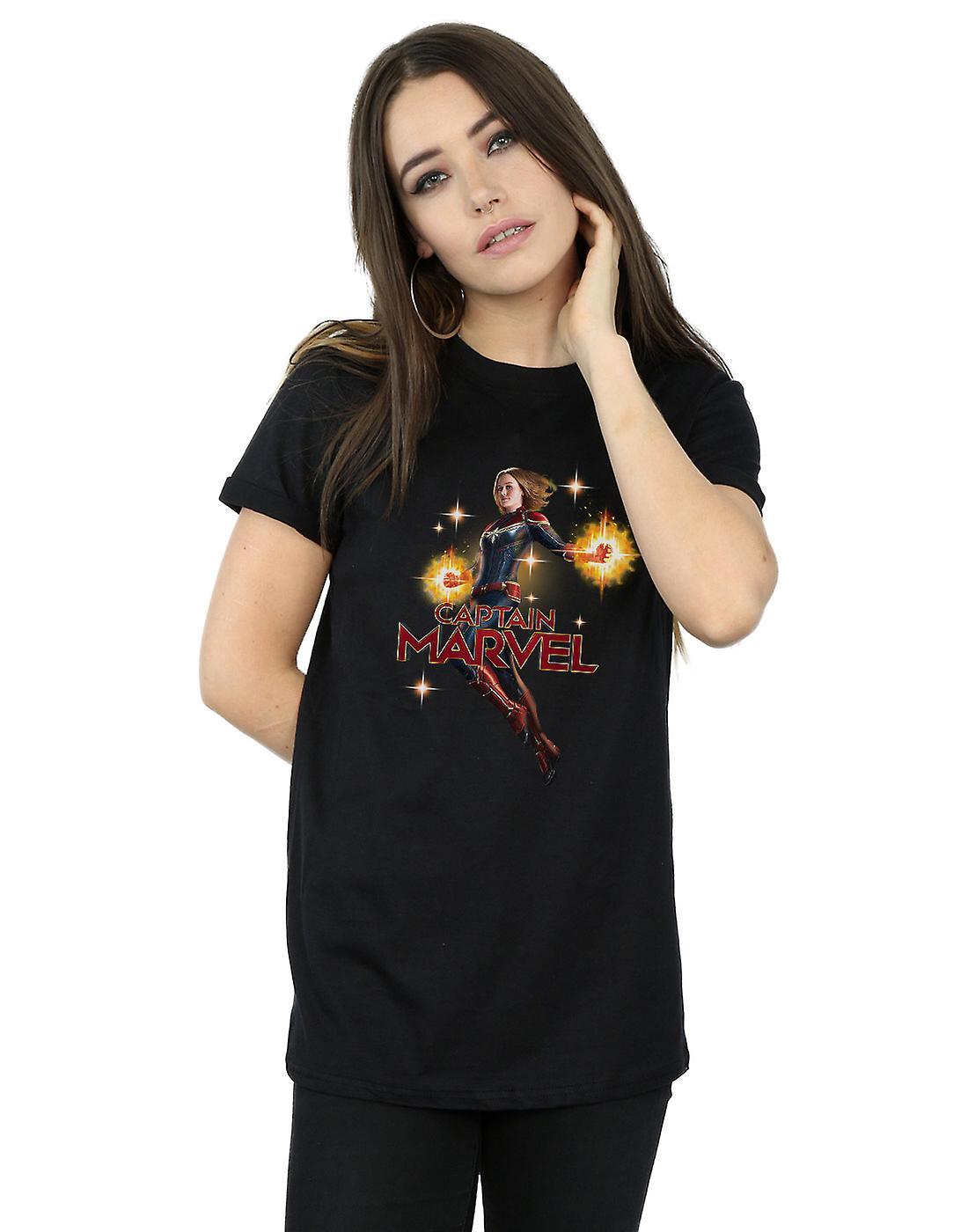 Marvel Women's Captain Marvel Carol Danvers Boyfriend Fit T-Shirt