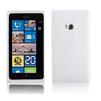 Cadorabo kotelo Nokia Lumia 900 kotelo Cover-matka Puhelin kotelo on valmistettu joustavasta TPU silikoni-silikoni kotelo suoja kotelo erittäin ohut pehmeä takakannen kotelo puskuri