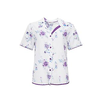 Andrea White Floral Pyjama imprimir topo Cyberjammies 4094 feminino