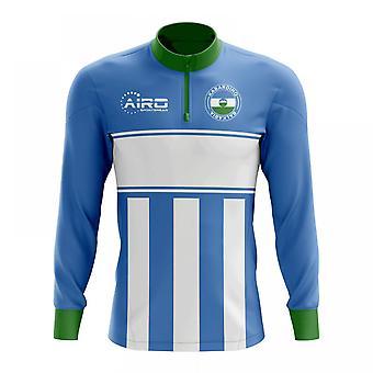 Kabardino-Balkarien Konzept Fußball Half Zip Midlayer oben (Himmel-blau-weiß)