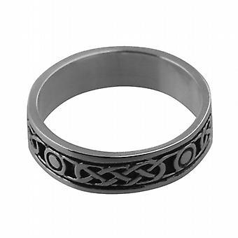 تتأكسد الفضة 6 مم سلتيك خاتم الزواج حجم Z